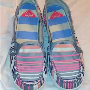Roxy Minnow MultiStriped Slip-On Casual Shoes Sz 5
